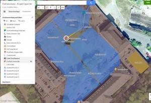 Geländeplanung - Mögliche Standorte und Kabelführungen