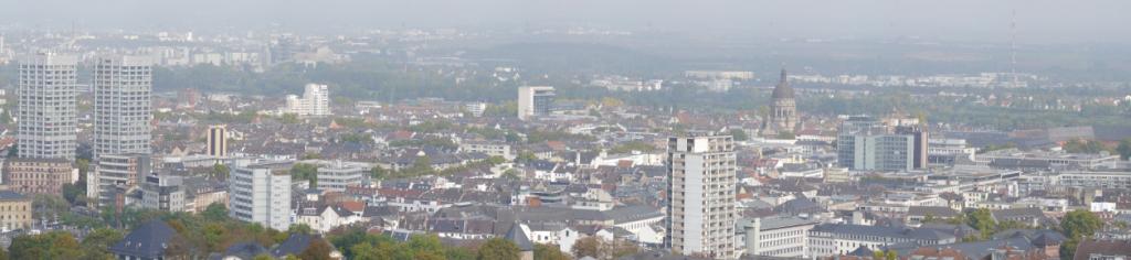 Mainz vom Augustusplatz über Mainz
