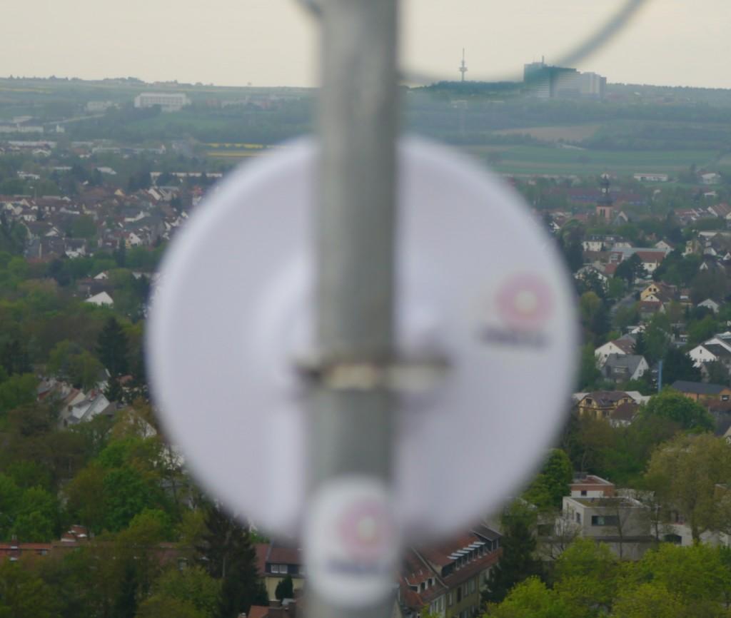Richftunk-Netz über Mainz: Blick gen Lerchenberg