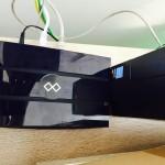 Freifunk-Router als Uplink im Büro der Malteser (Bild: Michael Ziegler)